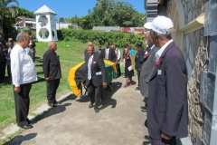 Barrington Rushford Moore -Ex-JDF Members formed Guard of Honour - Jan, 2016