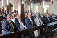 Barrington Rushford Moore -Ex-JDF Members  in attendance at funeral service - Jan, 2016