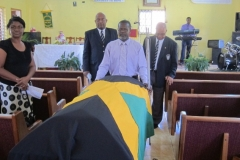 Beadle Ex-JDF Flag draped casket July, 2014