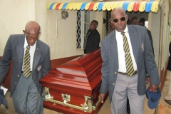 Charles Phillips Ex-RAFA Funeral Service Pallbearers Carry The Casket Of Their Faded Member To The Hearse August 2016