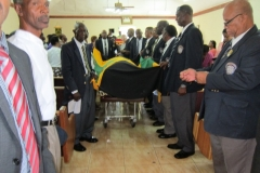 Charles Phillips Ex-RAFA Funeral Service Final Respect Shown by Members Of The Jamaica Legion August 2016