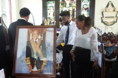Family members say final farewell to the late Ernest Alexander Sterling