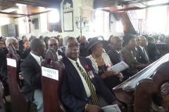 Montego Bay Branch Jamaica Legion Ex- Service members in attendance at the thanksgiving service for the late Ernest Alexander Sterling