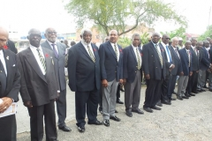 Members of Montego Bay Branch of the Jamaica Legion formed a guard of honour for the Late Ernest Alexander Sterling