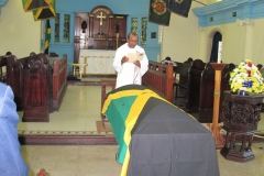 Eugene Green Ex-JDF  Flag draped casket Sept, 2013