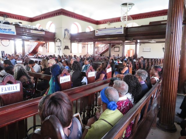 Cross section of the congregation with family members of the late Ex-RAFA Hedley Jones