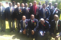 Hugh Vincent Simpson Late Ex-RAFA - Members of Montego Branch Jamaica Legion, JDF Buglers and Hugh Vincent Simpson, Jr. - Feb 2016