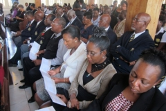 A section of the congregation at the funeral service for the late Ex-RAFA Jephthah Francis at William Knibb Memorial Baptist Church, Falmouth, June 2017