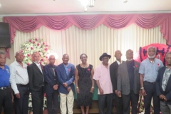 Ex Members of the JDF and friend of the late Gladstone Plunkett gave support to Mrs. Elaine Plunkett centre