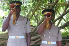 Bulgers sounding the Last Post and Reville at the funeral for the Ex -JDF Angilo James