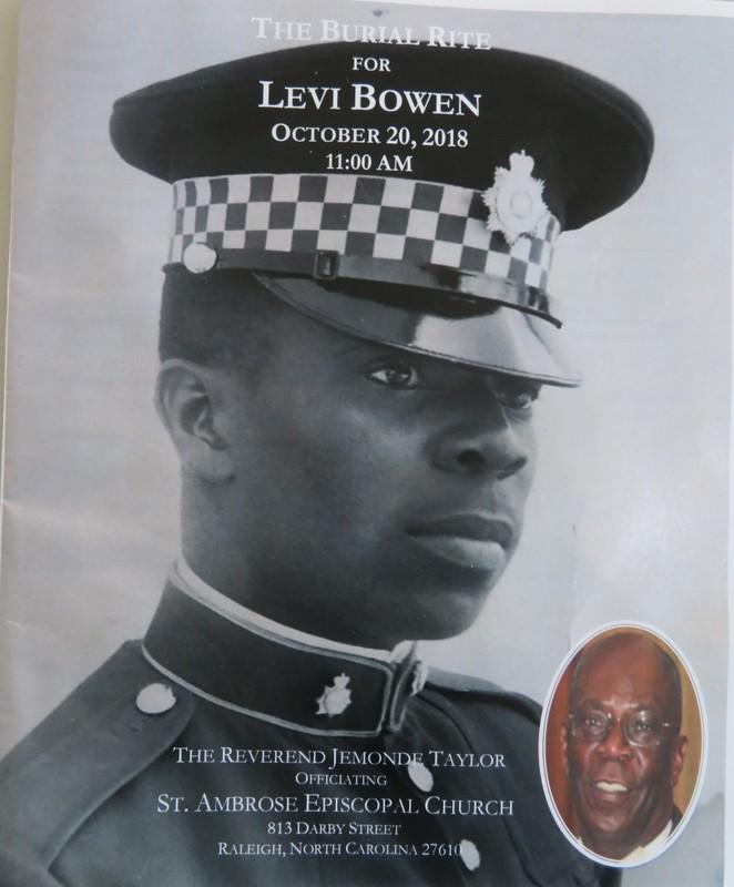 Late Ex-JDF Levi Bowen October  20, 2018