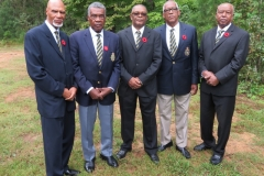 Ex-JDF members in attendance  at the funeral for the late Levi Bowen (L-R) C. Petgrave, S. Needham, B.  Fearon, B. Grant & O. 'Dudley' Hill