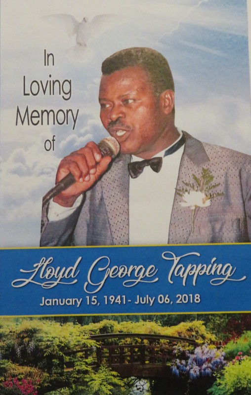 Late Ex-JDF Lloyd George Tapping - August 04, 2018