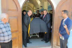 Lt. Col. Victor Leslie Beek OD. JP - Late  Ex-RAFA Vet. & Ex-JDF casket been taken from the church  following the thanksgiving service - November 2016