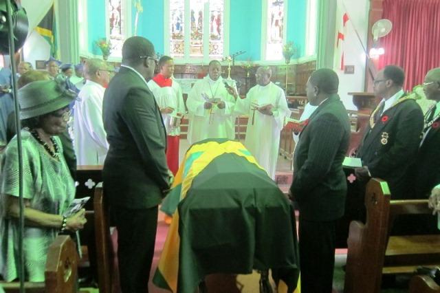 Lynwal James Ex-RAFA Flag draped casket Oct, 2014
