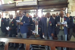 Members of the Jamaica Legion,  Montego Bay Branch at the Remembrance Day Service 2018 St. James Parish  Church, Montego Bay