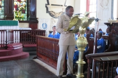 Captain from the 2nd Bn.  Jamaica Regiment reading the 2nd lesson