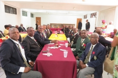 Members were treated to a  brunch following the service
