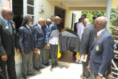 Members of the Montego Bay Branch, Jamaica Legion formed guard of honor for the late Ex-JDF Robert Donaldson final journey July 2017