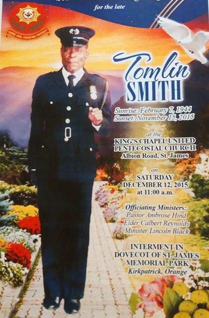 Tomlin Smith late Ex-JDF member 2015