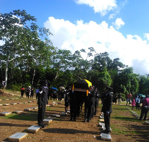 Tomlin Smith's grave side 2015