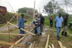 Laying the foundation for building chicken coop-edit