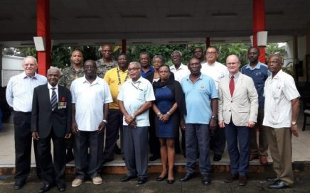 Secretary General R.C.E.L Lt. Col. Warren (2nd R -front row) with members of Island Council Jamaica Legion
